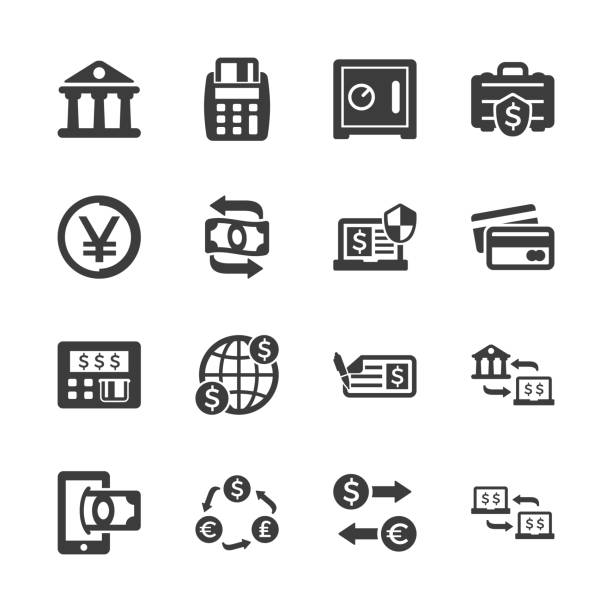 Business & Finance Icons Business & Finance Icons - Set 1 exchange rate stock illustrations
