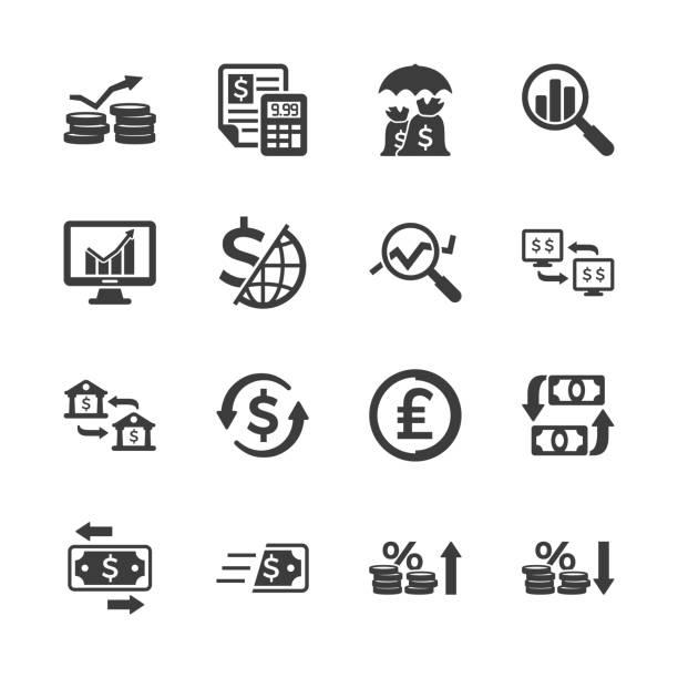 illustrations, cliparts, dessins animés et icônes de affaires & finances icônes - inflation