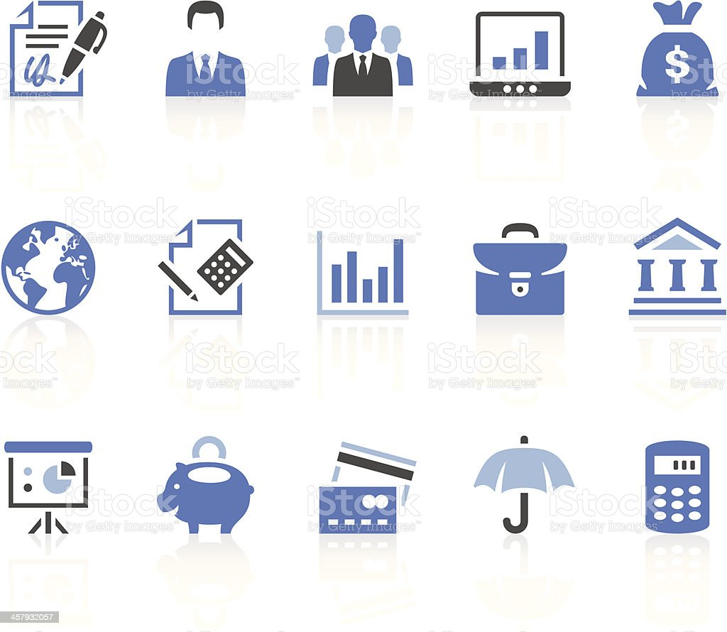 Business & Finance icons royalty-free stock vector art