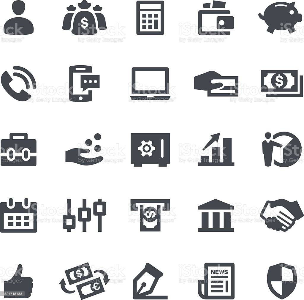 Business & Finance Icons vector art illustration