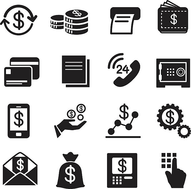Business , finance, Investment icons Set Business , finance, Investment icons Set budget symbols stock illustrations