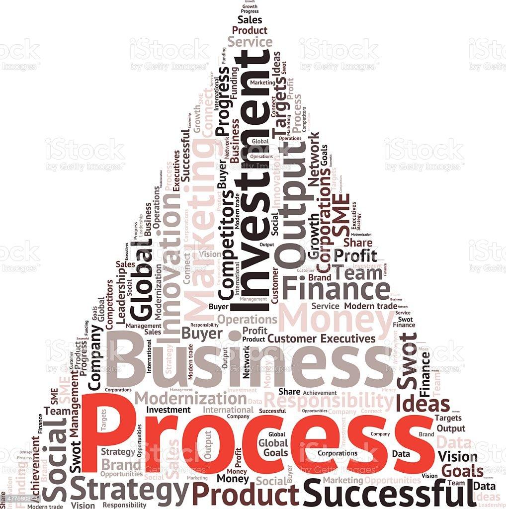 Business & finance verwandte Wörter Wolke Hintergrund – Vektorgrafik