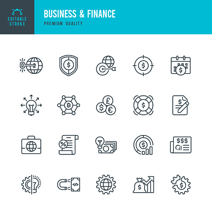 Business & Finance - set of vector line icons
