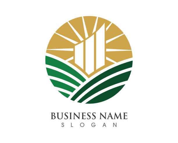 business finance logo vorlage vektor icon-design - bankgeschäft stock-grafiken, -clipart, -cartoons und -symbole