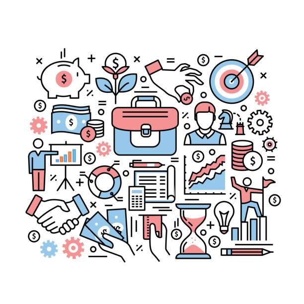 Concept d'affaires finances et investissements - Illustration vectorielle
