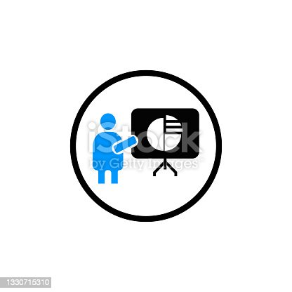 istock Business financial diagram analysis icon vector 1330715310
