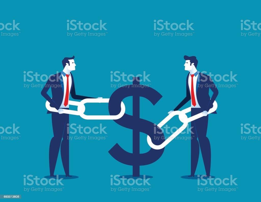 Business financial issues. Concept business finance vector illustration. vector art illustration