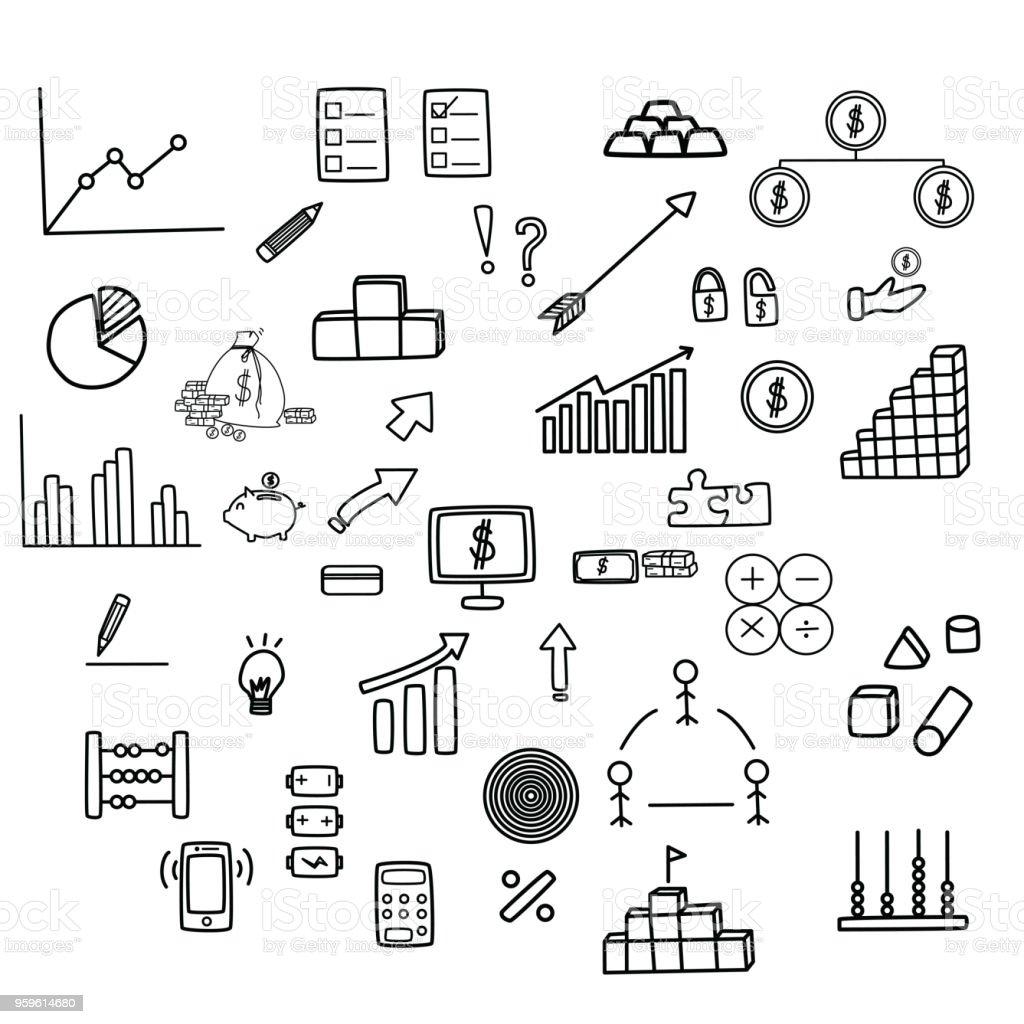 Financieros del negocio conjunto. - arte vectorial de Actividades bancarias libre de derechos