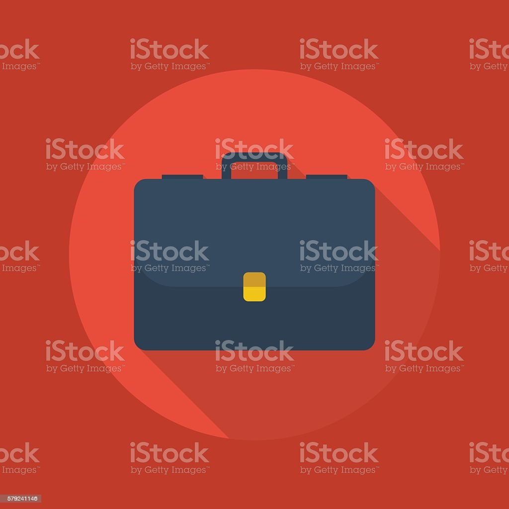 Business Flat Icon. Briefcase – Vektorgrafik
