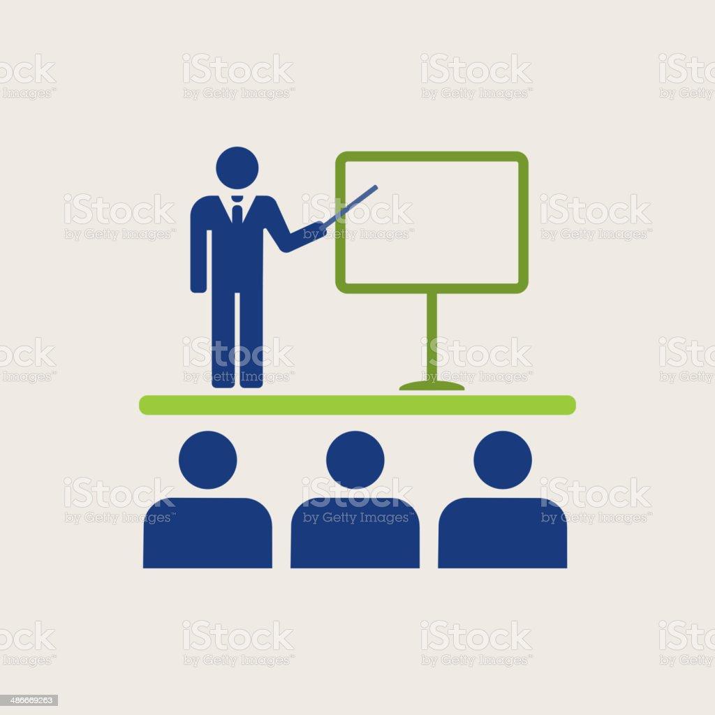 Business Flat Icon vector art illustration