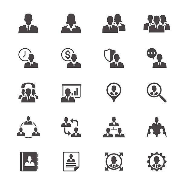 ilustrações, clipart, desenhos animados e ícones de ícones plana de negócios - business man