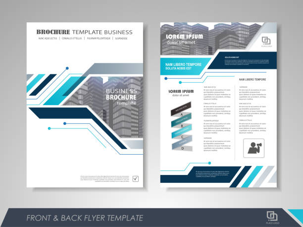 Business flyer cover design vector art illustration