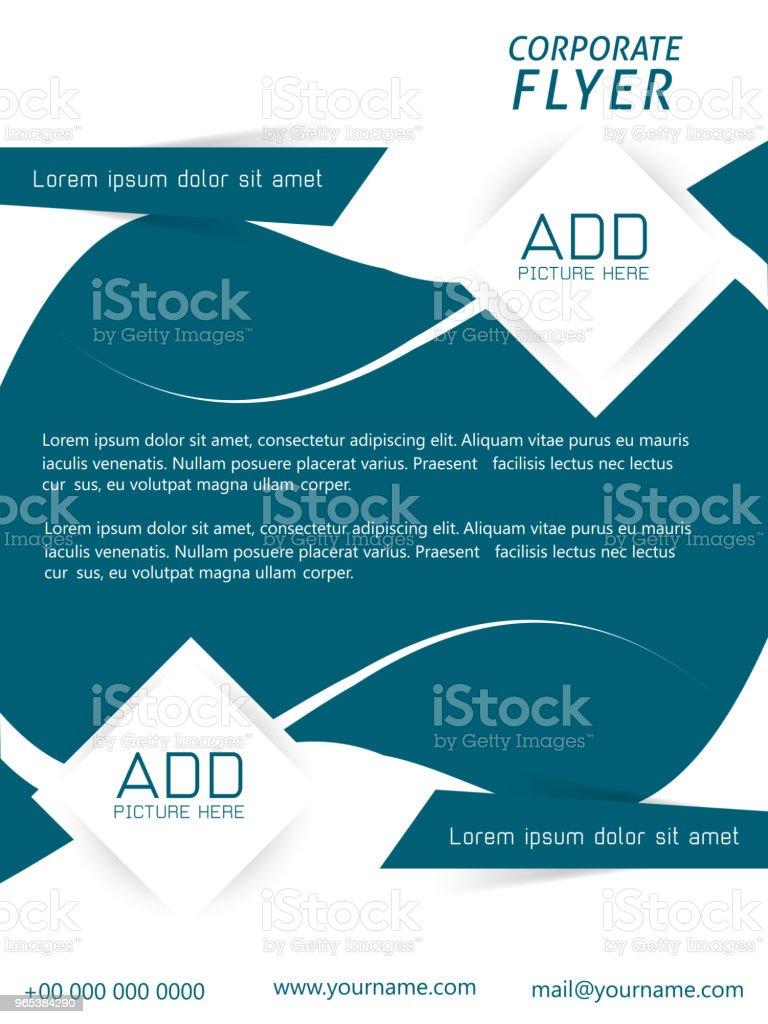 Business-Flyer oder Broschüren - Lizenzfrei Abstrakt Vektorgrafik
