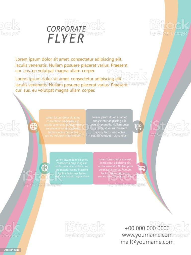 Flyer de l'entreprise ou de Brochures - clipart vectoriel de Abstrait libre de droits