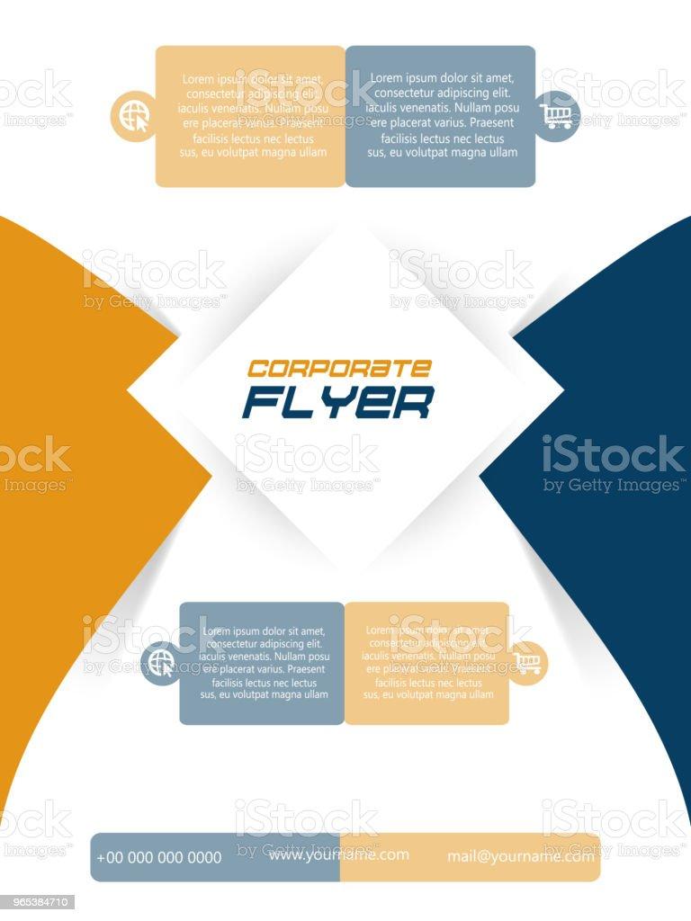 商務傳單或摺頁冊 - 免版稅企業圖庫向量圖形