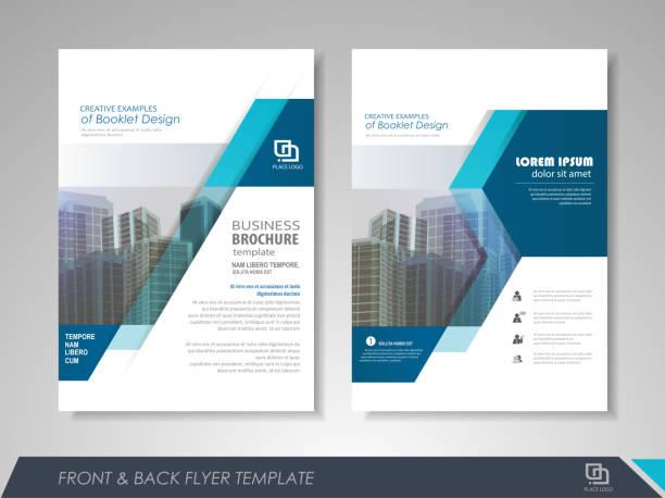 Business flyer presentation vector art illustration