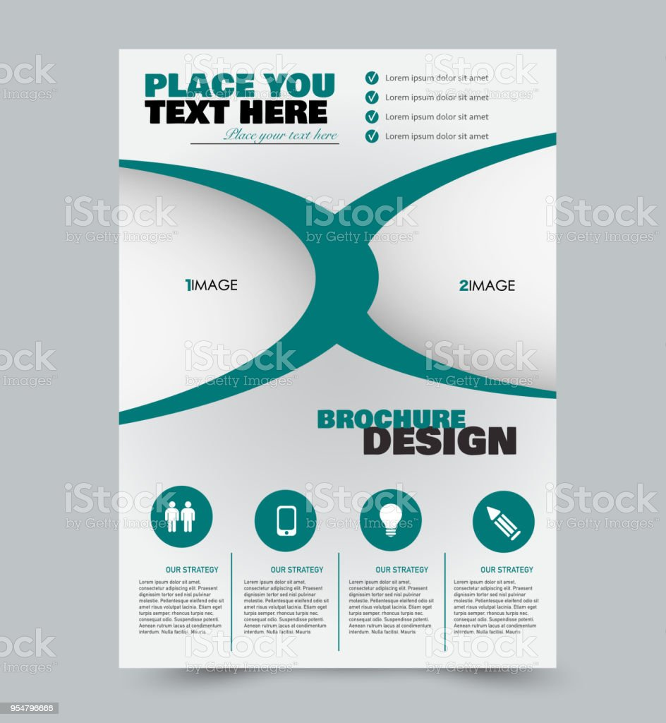 business flyer template a4 size brochure design annual report cover