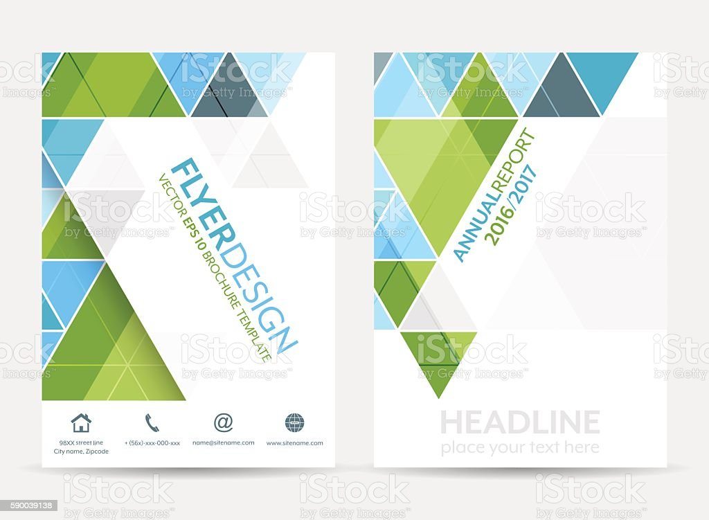 Azure Flyer Template | Ilustracion De Business Flyer Template Brochure Or Corporate Banner