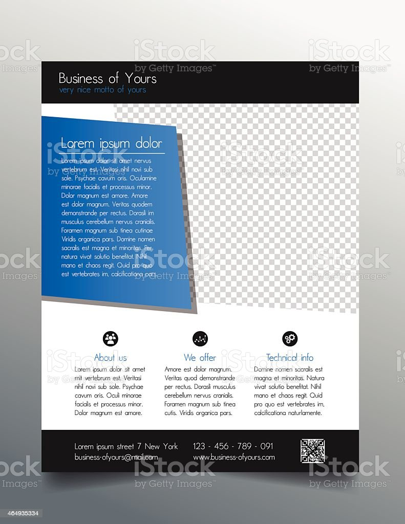 Business flyer template fresh and modern design vector image.