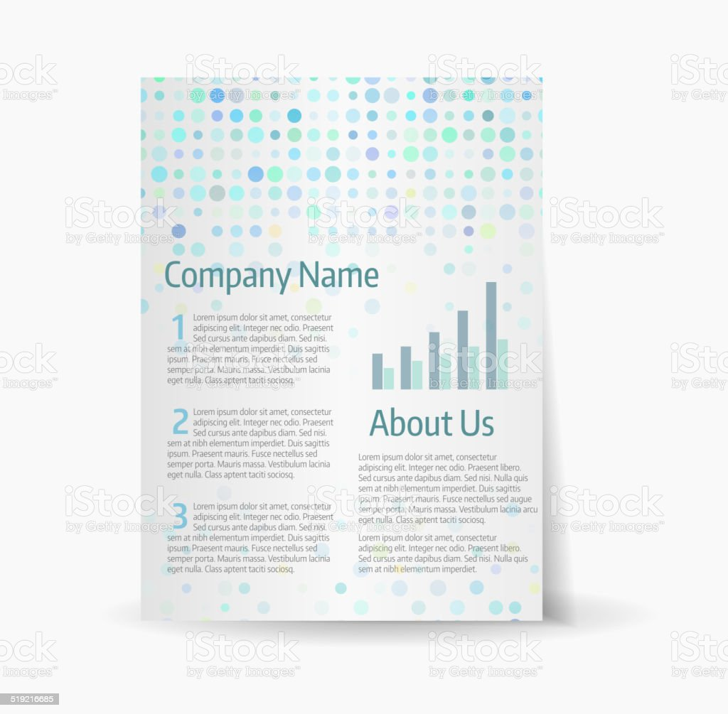 business flyer template with mosaic background stock vector art