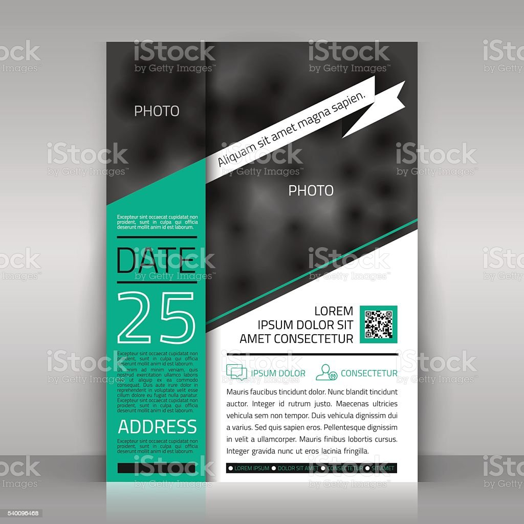 Business flyer. vector art illustration