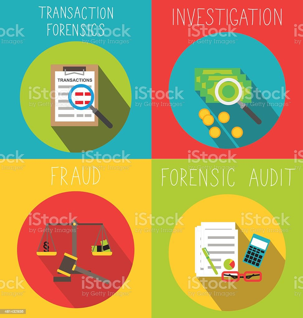 Business forensic services vector art illustration
