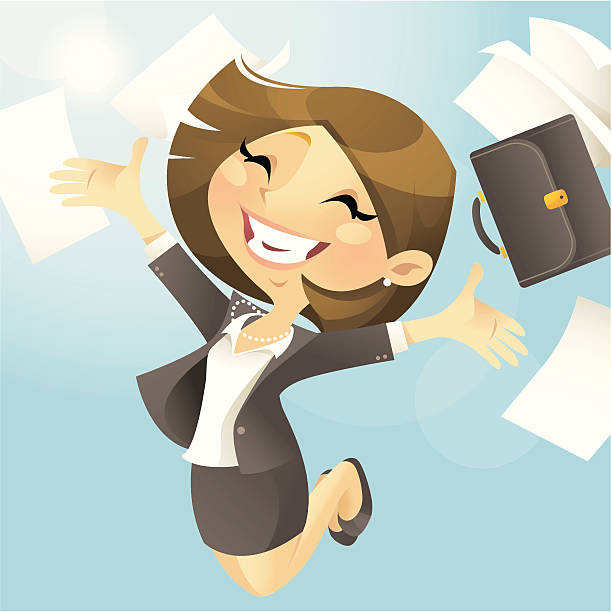 business freedom (female) - chihhang stock illustrations