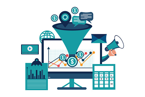 Business funnel conversion marketing digital sales funnel