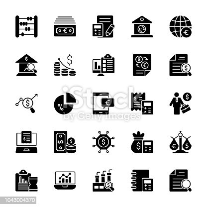 The set encompasses wide range of banking and finance elements which make business related packs stand out. This rich collection of business glyph vectors icons make an amazing pack in your reach.