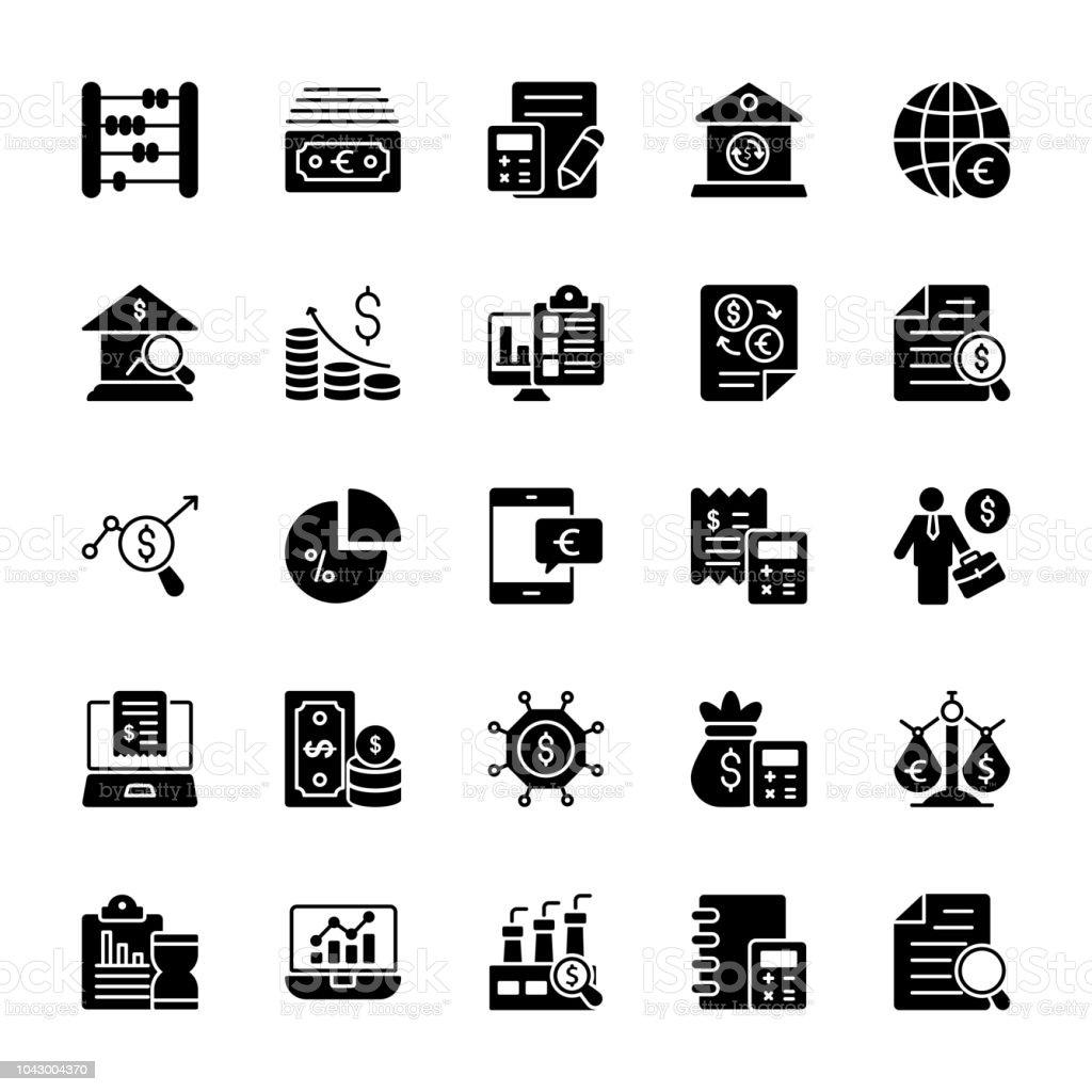 Entreprise glyphe Vector Icons - Illustration vectorielle