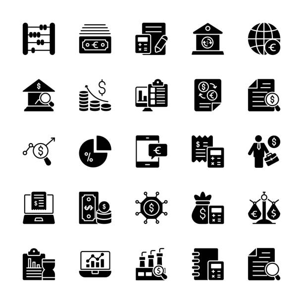Entreprise glyphe Vector Icons - Illustration vectorielle