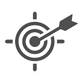 Beautiful, meticulously designed Business goal or target icon, dart board. Well organized and fully editable Vector icon for vector stock and many other purposes.