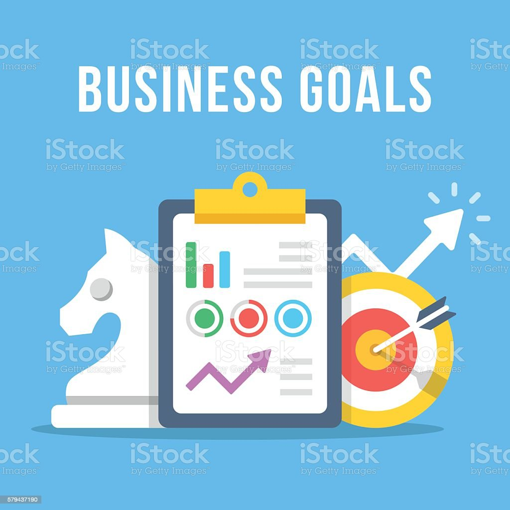 Business goals clipboard with graph target chess knight growth arrow clipboard with graph target chess knight growth arrow royalty geenschuldenfo Images