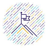 istock Business Goals Statement Line Icon Illustration 1085263622