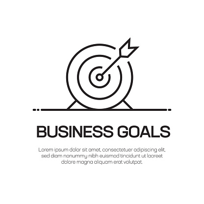 Business Goals Vector Line Icon - Simple Thin Line Icon, Premium Quality Design Element