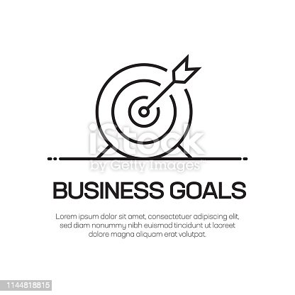 Business Goals Vector Line Icon - Simple Thin Line Icon, Premium Quality Design Element
