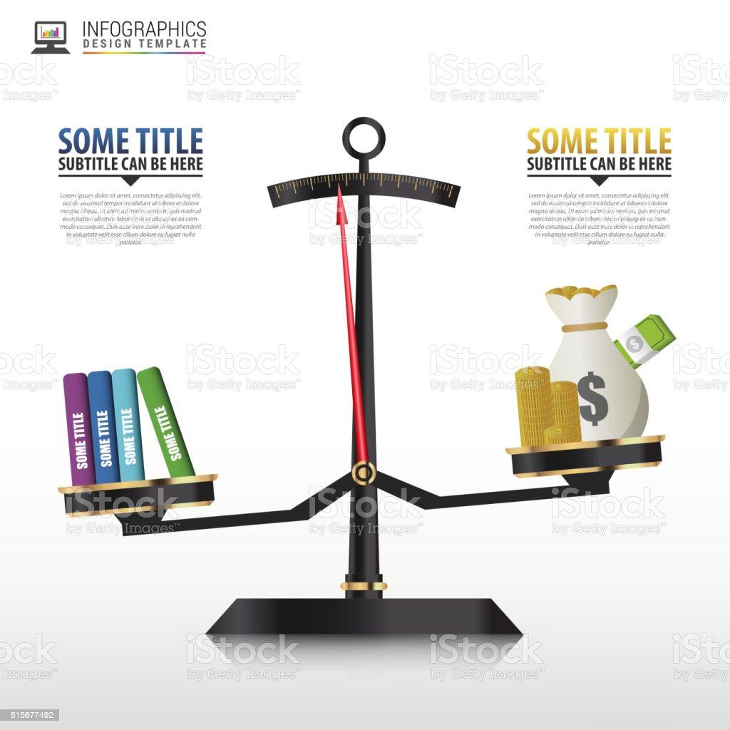 Geschäft Golden Stil Preis Skala Infografiken Vorlage Vektor Stock ...