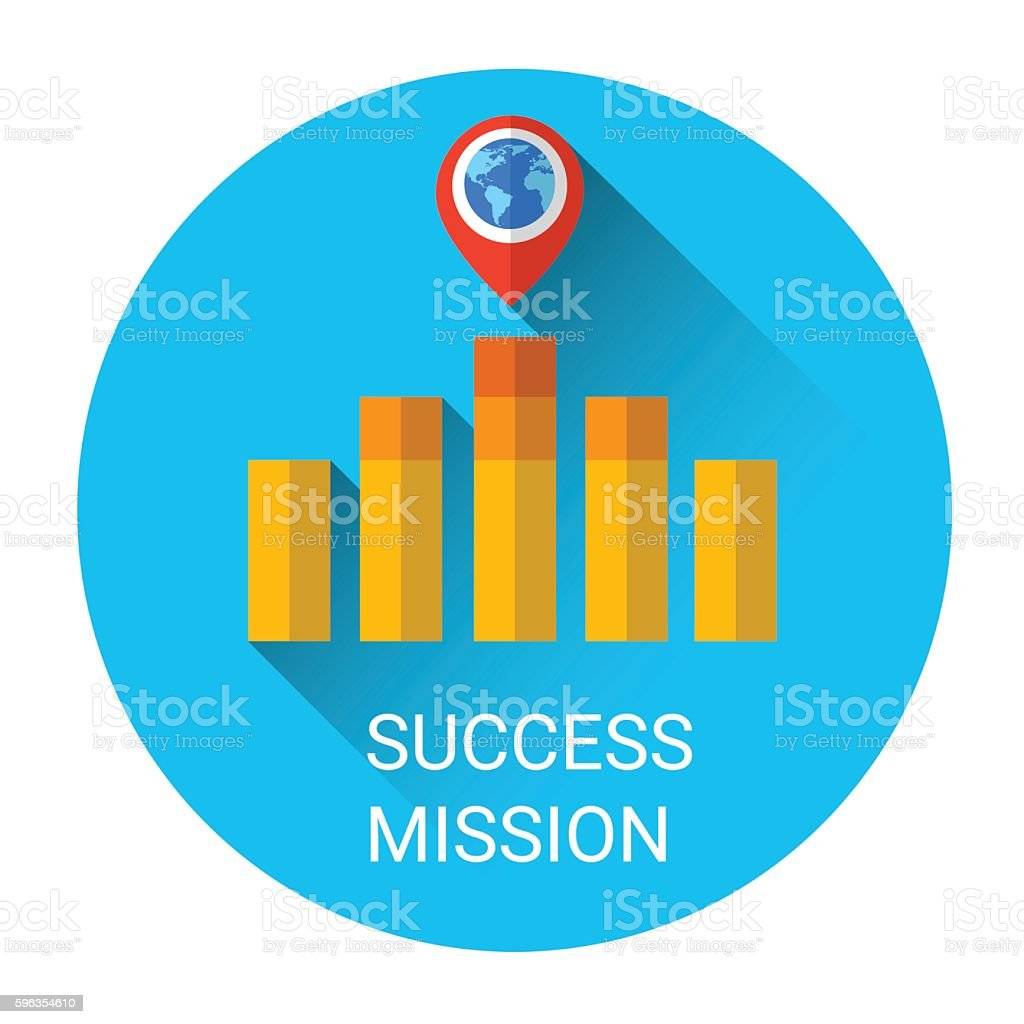 Business Graph Bar Success Growth Icon royalty-free business graph bar success growth icon stock vector art & more images of business