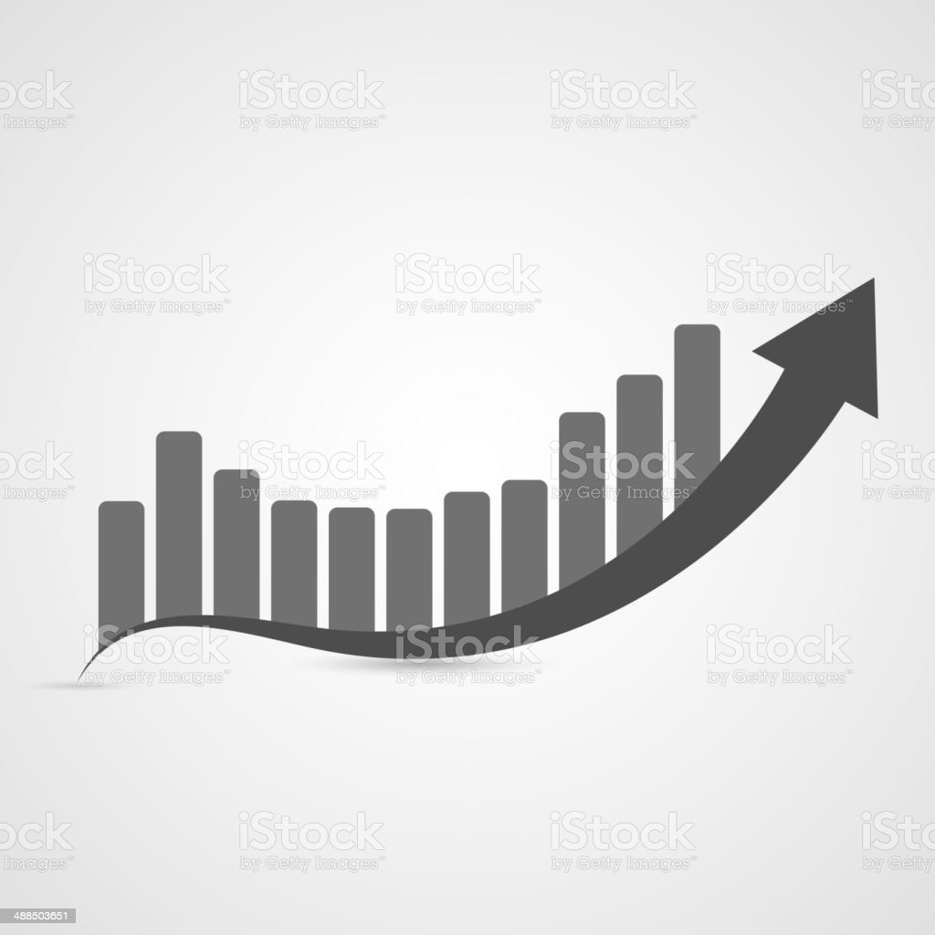 Business graph icon. Vector illustration vector art illustration