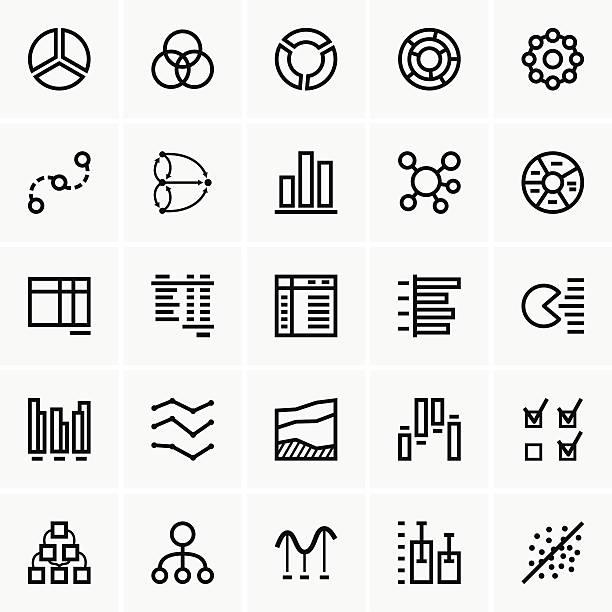 business graph symbole - tischarrangements stock-grafiken, -clipart, -cartoons und -symbole