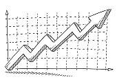 Business Graph Success Arrow Upwards Drawing