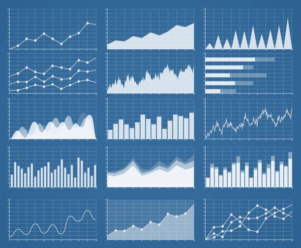 business graphics and charts set. analysis and management - 金融與經濟 幅插畫檔、美工圖案、卡通及圖標