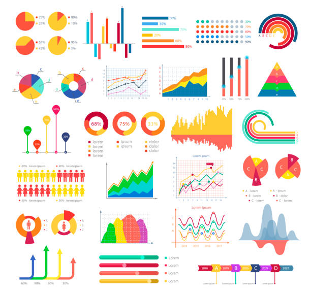 business graphics and charts - demographics infographics stock illustrations, clip art, cartoons, & icons
