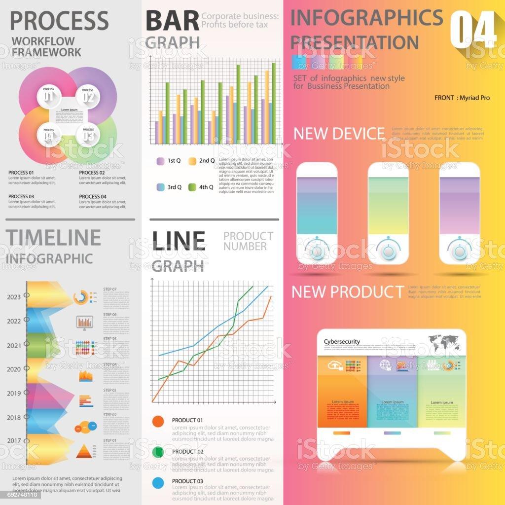 Business Grafiken Datensätze Element Vorlagen Diagramm Diagramm ...