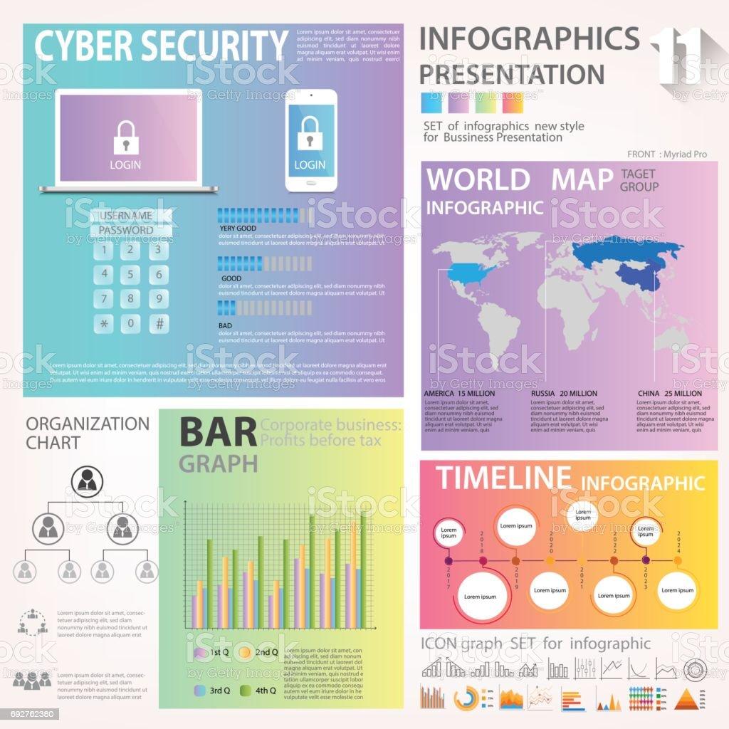 ビジネス グラフィックス データ要素テンプレート セットチャートグラフ