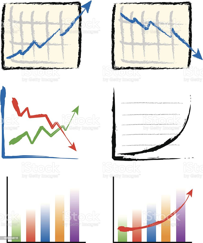 Business graphs royalty-free stock vector art