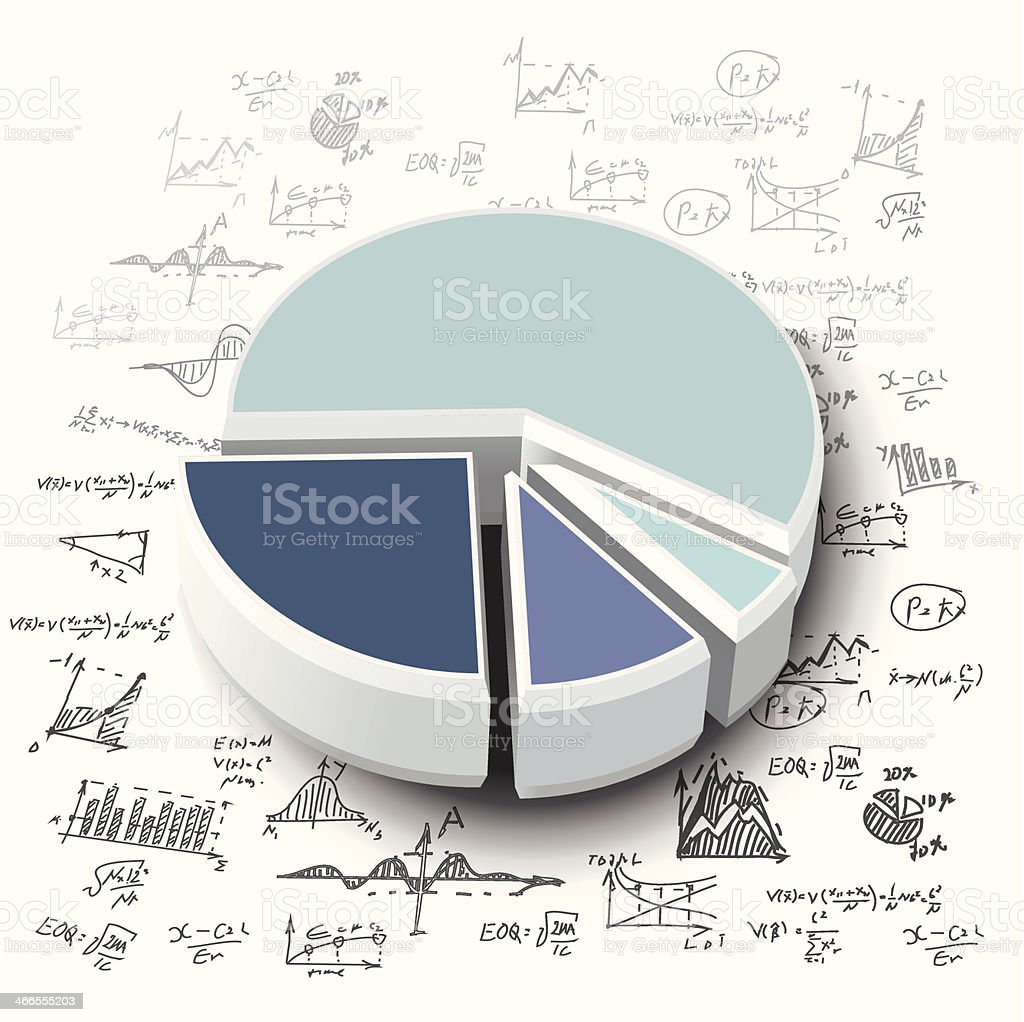 business graphs vector art illustration
