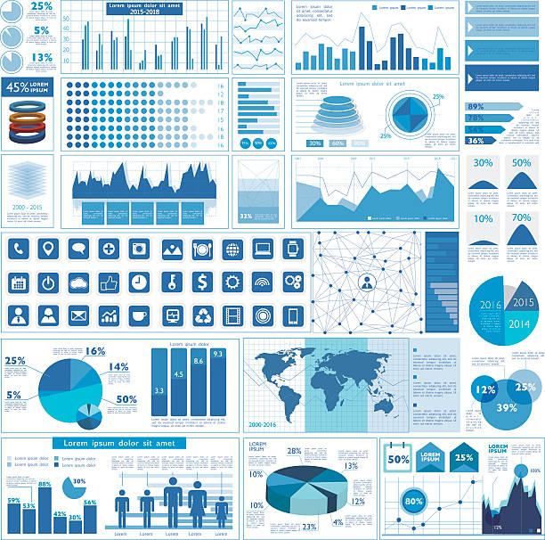 ビジネスグラフ - ビジネスのインフォグラフィック点のイラスト素材/クリップアート素材/マンガ素材/アイコン素材