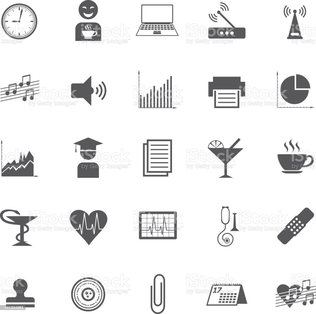 Business Gray Icon Set royalty-free business gray icon set stock vector art & more images of calendar