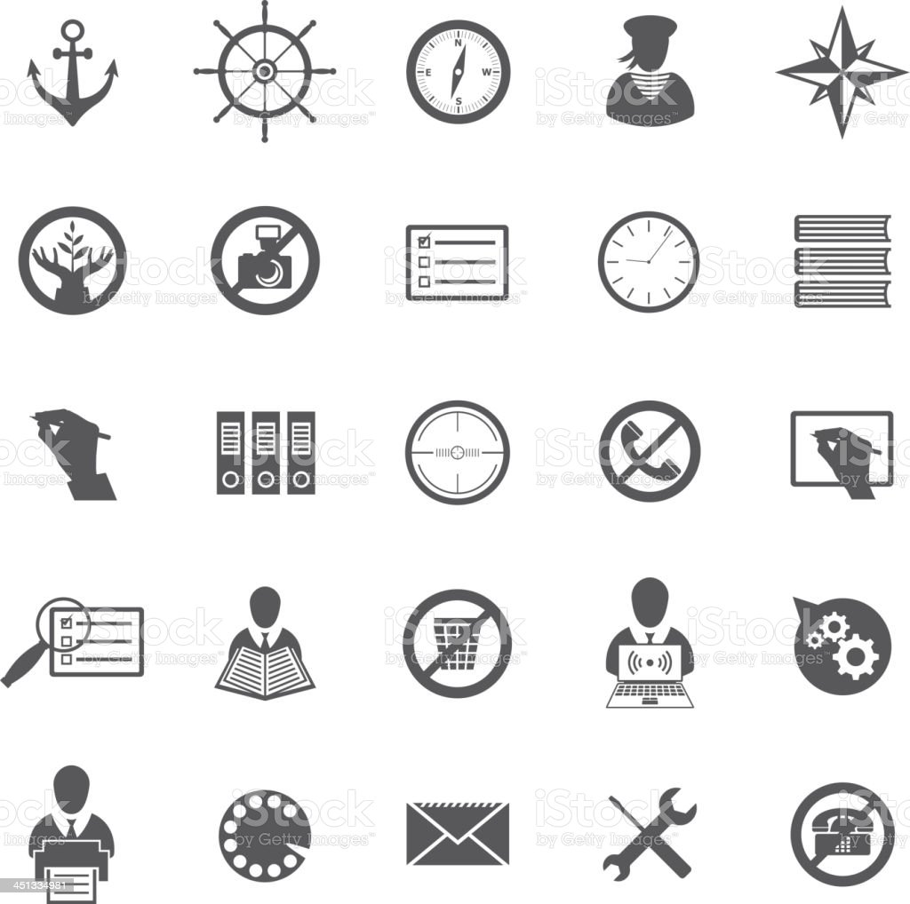 Business Gray Icon Set royalty-free stock vector art